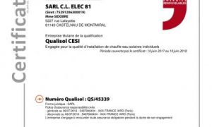 Reconduction certification RGE QUALISOL